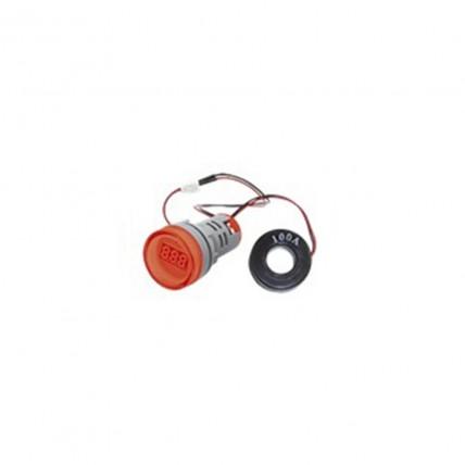 Amperímetro digital rojo