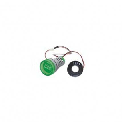 Amperímetro digital verde