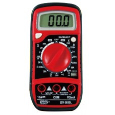 Multímetro digital  - 600V - 10A - Buzzer - hFE - Luz Display