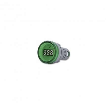 Voltímetro digital verde