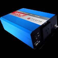Inversor de tensión 1000W c/USB - Onda sinusoidal modificada