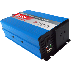 Inversor de tensión 600W c/USB - Onda sinusoidal modificada